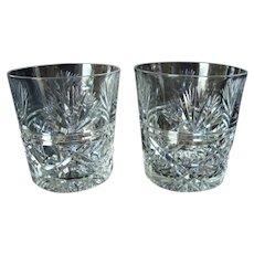 Edinburgh Crystal - Whisky / Spirit  Glasses - Vintage - Pair