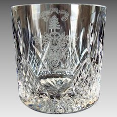 Stuart Crystal - Cut and Etched - Whisky Glass - Vintage