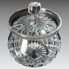 Stuart Crystal -  Jam / Marmalade / Compote - With Lid - Vintage