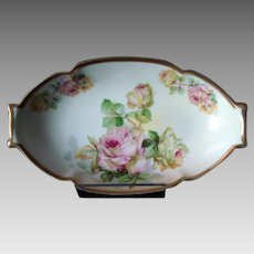 Beautiful Japanese Style Porcelain Tray - Roses - c1930s