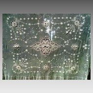 Tulle Net  Bed Cover Bed Spread Embroidered Vintage Romantic