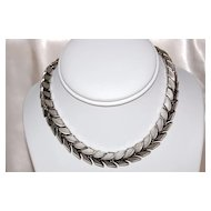 Trifari Silvertone Choker/Necklace