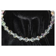 Vintage AB Faceted Crystal Choker/Necklace