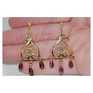 Tourmaline And Vermeil Earrings