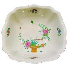 "Vintage Meissen Kakiemon Style Hand Painted Porcelain Large Serving  Salad Center Fruit Bowl 10 3/4"""