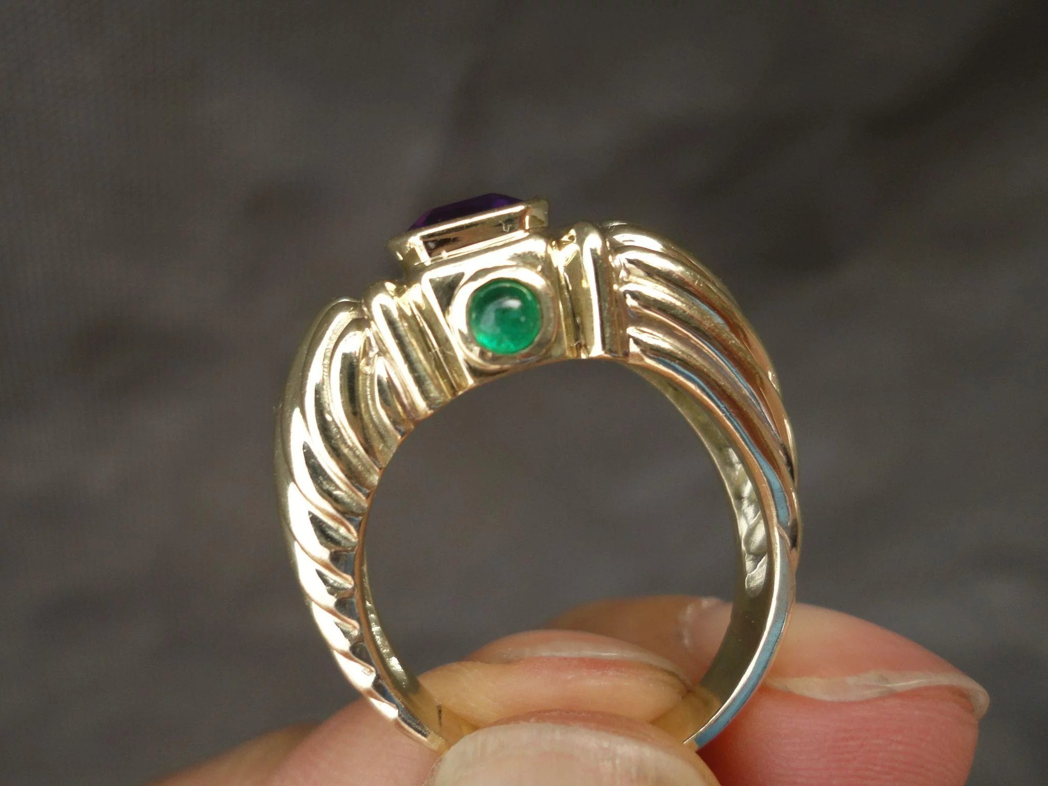 filigree columbian set designer sterling ring emerald silver italian renaissance store in