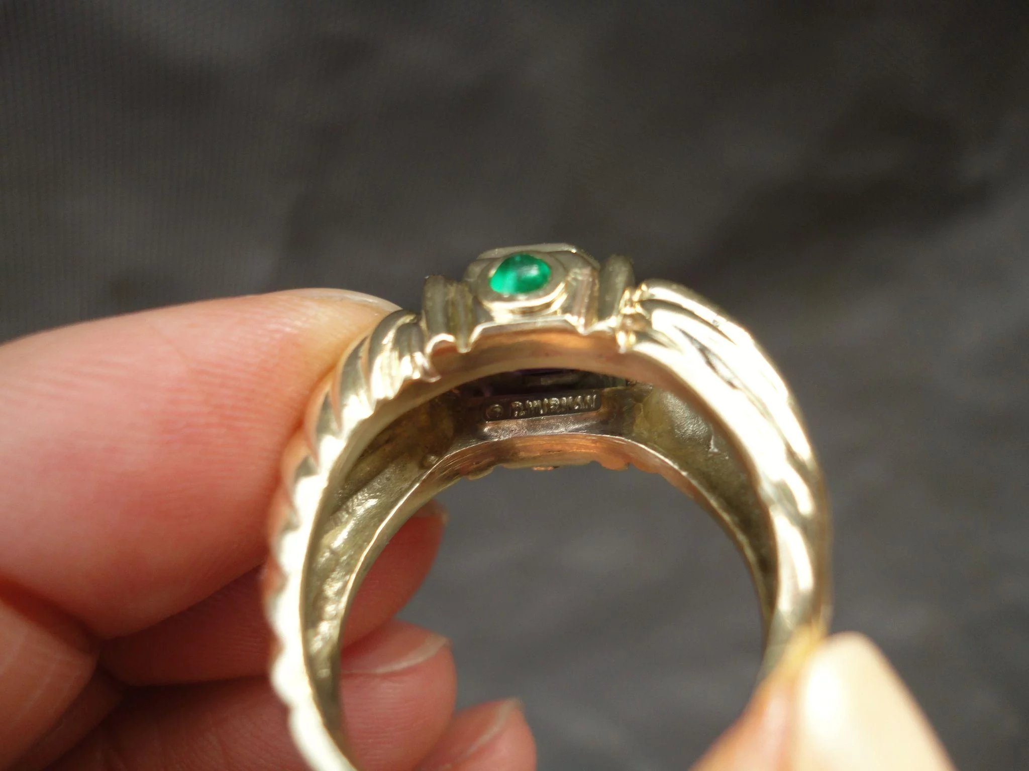 emerald david item to solid full expand amethyst yurman size ring renaissance click