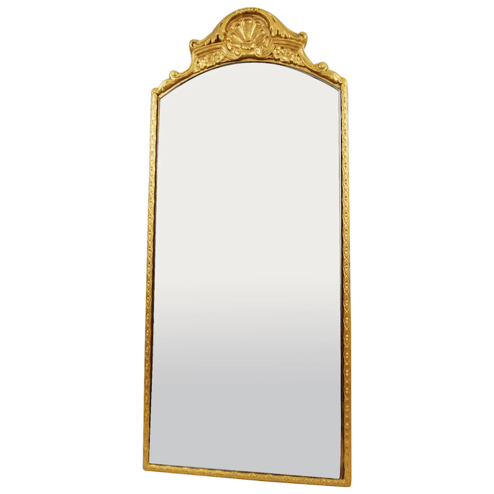 Art Deco C1933 B M Co Gilt Wood Framed Etched Mirror With Metal Five Mile Antiques Ruby Lane