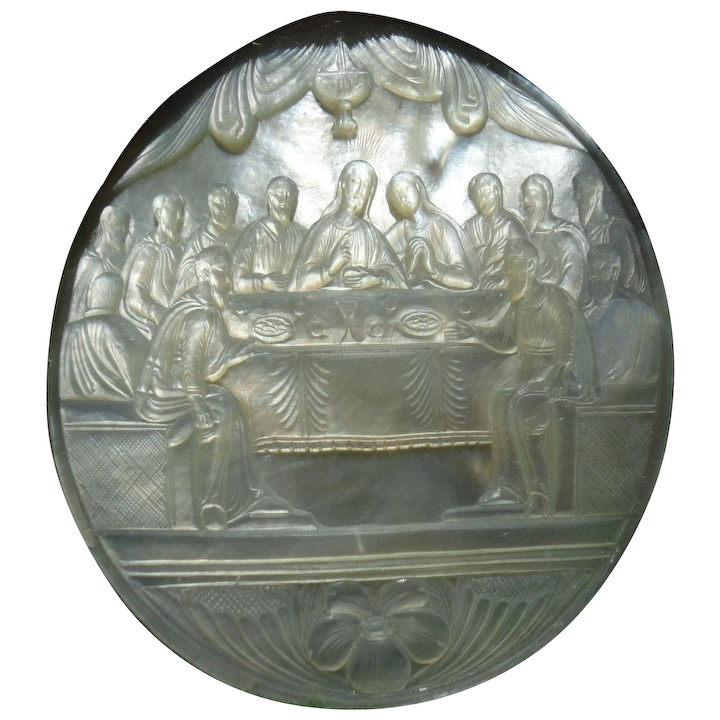 Carved Mother Of Pearl Religious Art