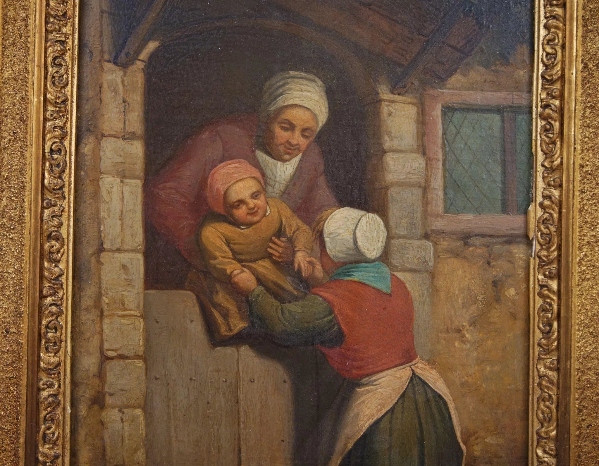 18th Century Dutch Realism Style Oil Painting On Board