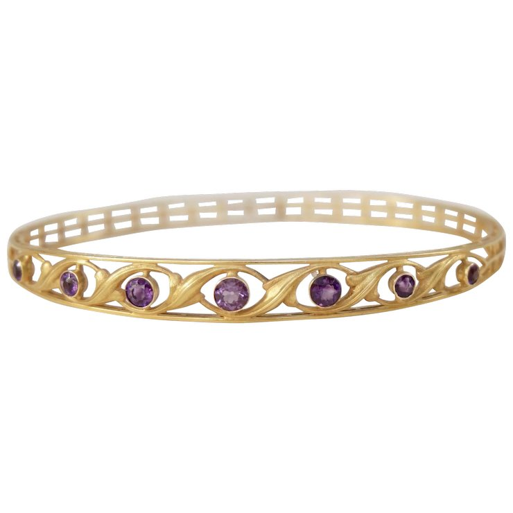 in bracelet gold topaz blue bangle yellow bangles with amethyst