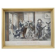C1868 Original Currier & Ives Hand Colored Engraving The Four Seasons of Life: Middle Age