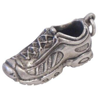 Sterling Silver Running Shoe Sneaker Figural Charm Pendant Graduation Gift