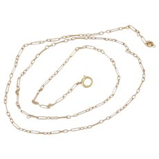 Vintage 10K Paper Clip Chain Necklace 16 Inches
