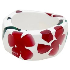 Paolo Pasotti Italian Designer Floral Faceted Bangle bracelet