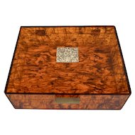 Vintage Large Tortoise Shell Lucite Jewelry, Stationary, Letter or Collector's Box