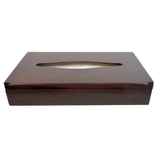 Super Large C Fold Facial Towel Tissue Mahogany Wooden Box