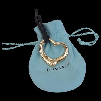 Tiffany & Co. Elsa Peretti 18K YG X-Large Open Heart
