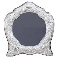 Large Paterna & Livi Sterling Silver Repousse 925 Picture Photo Frame 11 X 10.5 Inches