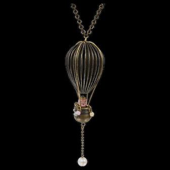 """Bijoux Medecine Douce Paris Hot Air Balloon Necklace Chain 30"""""""