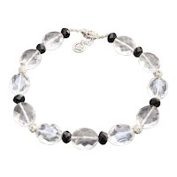 Crown Trifari Large Faceted Clear Lucite Bead Necklace