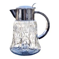 TL000003530 | Mid Century Germany Silver-plated Crystal Claret Jug Water Pitcher Cocktail Pitcher X-Large