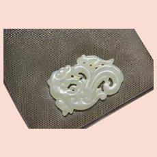 Rare Rafael Sanchez Vintage Collectable Shoulder Bag with Chinese Carved Celadon Jade Serpentine