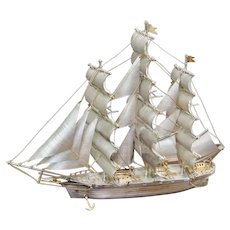 Cutty Sark Sterling Silver Clipper Ship Model Buckingham Corp Limited Edition