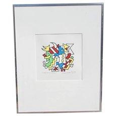 "Richard Hodge Original Minimal Geometric Abstract Art ""The Green Hornet"""
