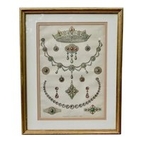 C1863 Original English Engraving Wedding Gifts to the Princess of Wales