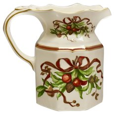 Tiffany Garland 32 Oz Water Pitcher Milk Jug Cream Color by Tiffany & Co Holiday China