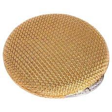 Van Cleef & Arpels 18 Karat Yellow Gold and Diamond Compact