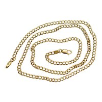 """18K Yellow Gold Double Cuban Link Necklace by Mouawad 17"""""""