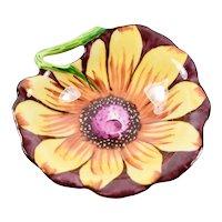 Limoges France Peint Main Parry Vielle Marque Deposee Black-eyed Susan Floral Flower Trinket Box