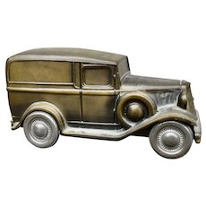 Vintage 1934 Ford Panel Truck Metal Bank by Banthrico Chicago C1974