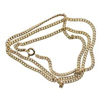 14K Yellow Gold 2.5 mm Curb Chain Necklace 20 inches 11.2 grams for Men or Women
