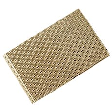 14K Yellow Gold Woven Style Money Clip Note Pad Cover 49 grams
