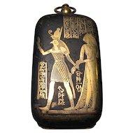 Rare Japanese Damascene Egyptian Revival Sovereign Case