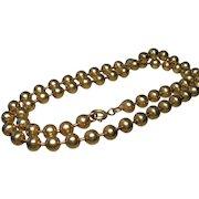 Victorian Pinchbeck Bronze Bead Necklace