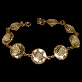Deco Large Glass Facet Bracelet