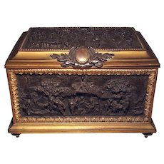 French Bronze Regency Jewel Casket