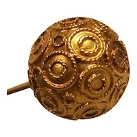 Victorian Etruscan Revival 9ct Gold Hatpin