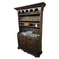 Antique Pewter Cupboard