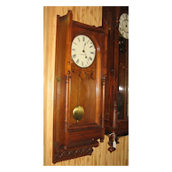 "Seth Thomas ""Queen Anne"" Walnut Wall Clock"