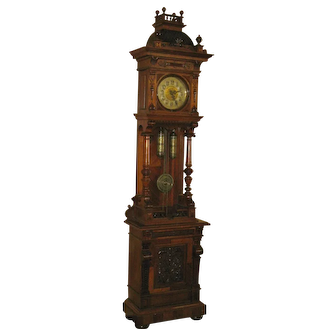 German Openwell Grandfather Clock