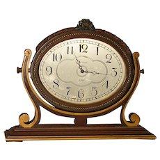 Waltham 8 Day Desk or Dresser Clock  Free Shipping