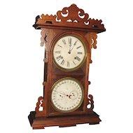 E. N. Welch Arditi Double Dial Calendar Clock
