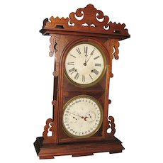E. N. Welch Arditi Double Dial Calendar Clock