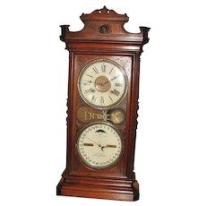 Ithaca Index Double Dial Calendar Clock