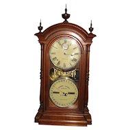 Seth Thomas Fashion #4 Double Dial Calendar Clock